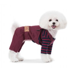 Джинсовий комбінезон для собаки