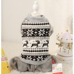 Теплий зимовий костюм для собаки