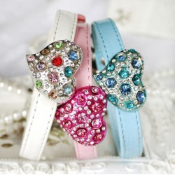 Dog collar with flowers for dogs