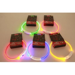 Glowing USB LED collar for dog