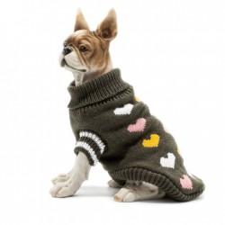 Теплый вязаный джемпер для собаки