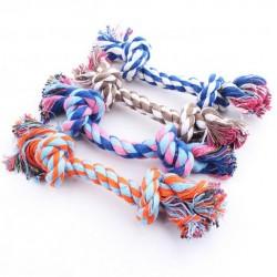 Цветной канат с узлами для собаки